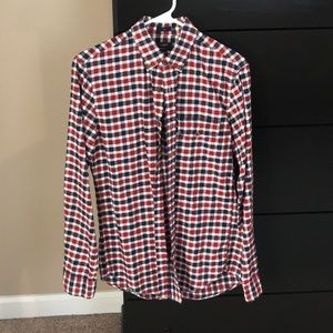 J Crew Plaid Shirt Slim Fit SIze S